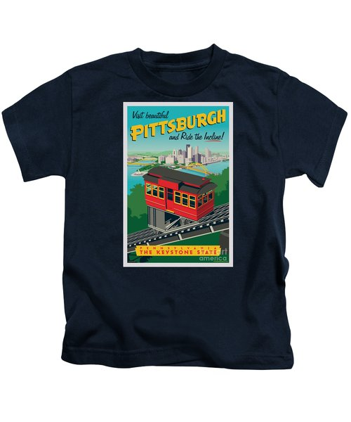 Pittsburgh Poster - Incline Kids T-Shirt