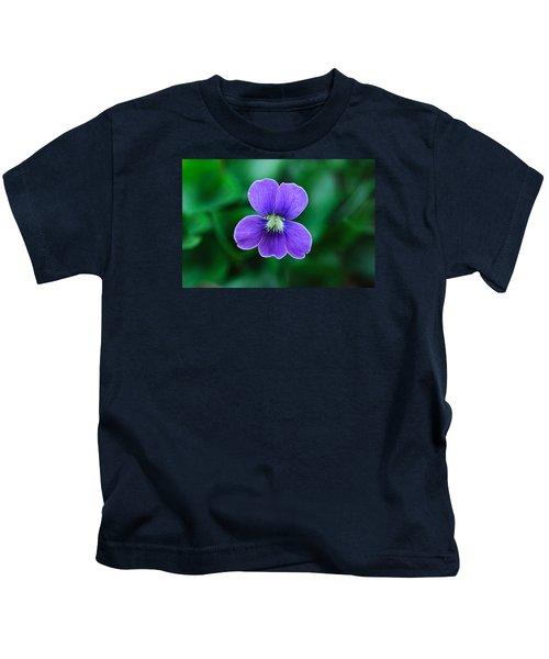 Violet Splendor Kids T-Shirt