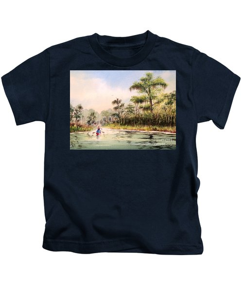 Wacissa River  Kids T-Shirt by Bill Holkham