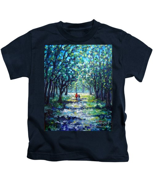 Walking In The Park Kids T-Shirt