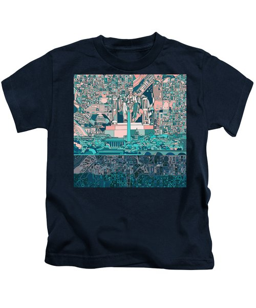 Washington Dc Skyline Abstract 5 Kids T-Shirt