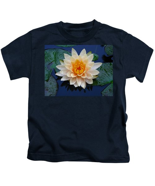Waterlily After A Shower Kids T-Shirt