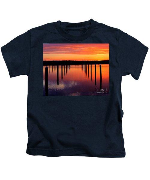 Winchester Bay Sunset Kids T-Shirt