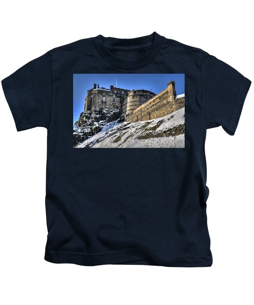 Winter At Edinburgh Castle Kids T-Shirt
