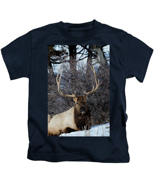 Wyoming Elk Kids T-Shirt