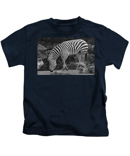 Zebra In Black And White Kids T-Shirt