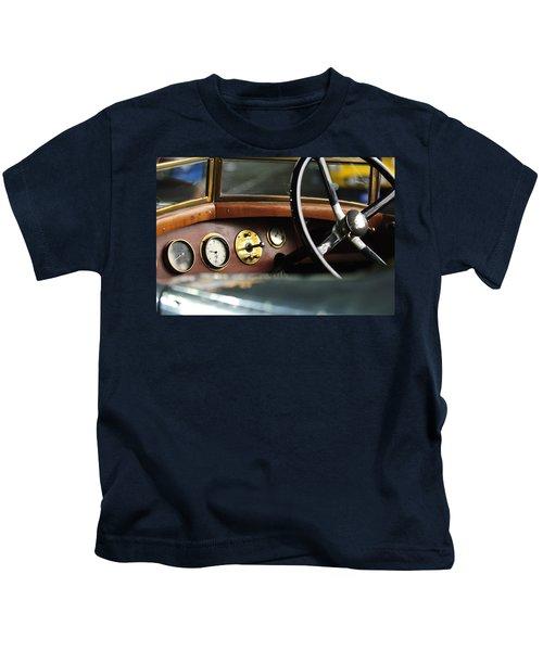 1921 Bentley  Instruments And Steering Wheel Kids T-Shirt
