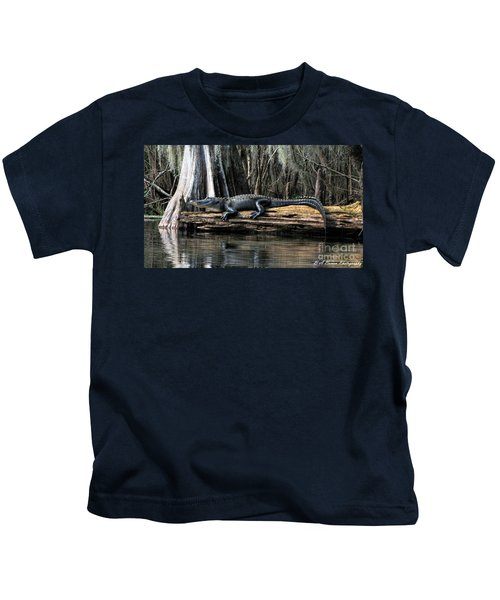 Alligator Sunning Kids T-Shirt