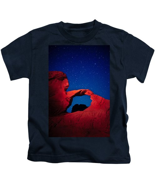 Arch In Red And Blue Kids T-Shirt