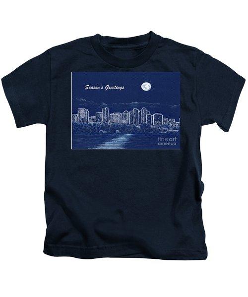 Bellevue Skyline Holiday Card Kids T-Shirt