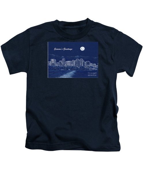 Bellevue Skyline Holiday Card Kids T-Shirt