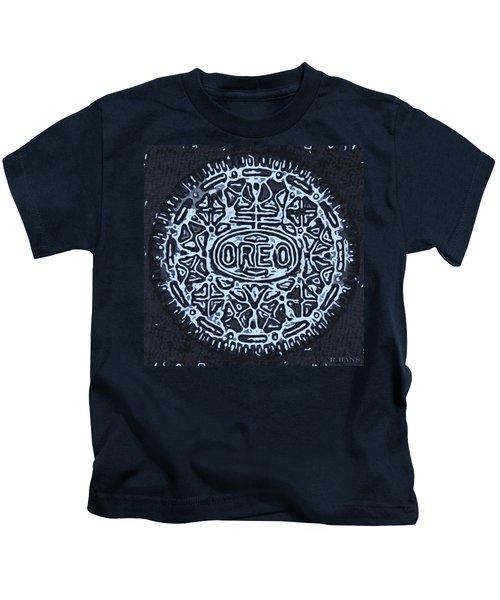Black Cyan Oreo Kids T-Shirt
