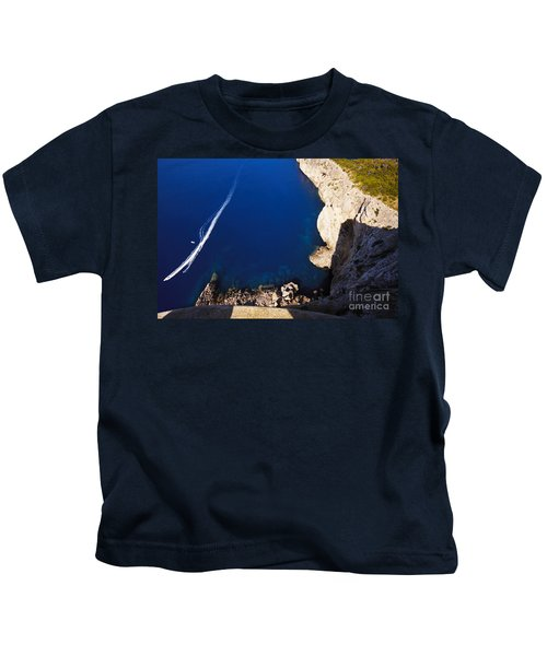 Boat In The Sea Kids T-Shirt