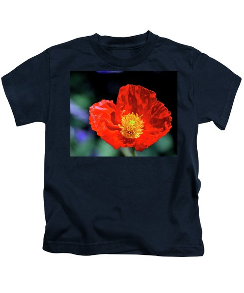 Orange Poppy Kids T-Shirt