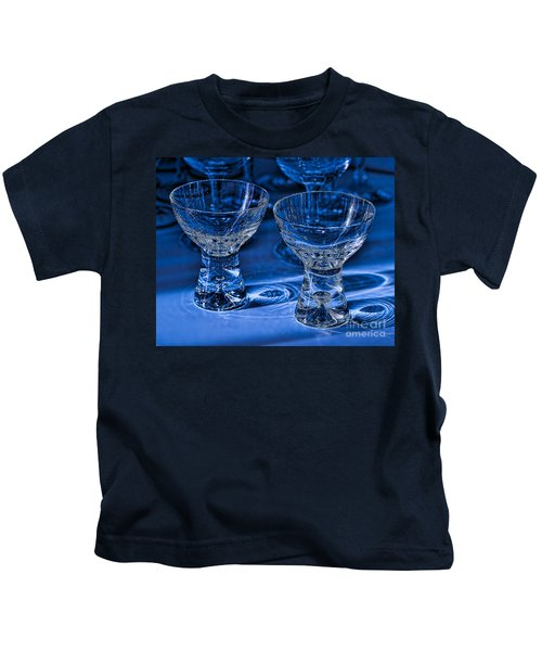 Reflections In Blue Kids T-Shirt
