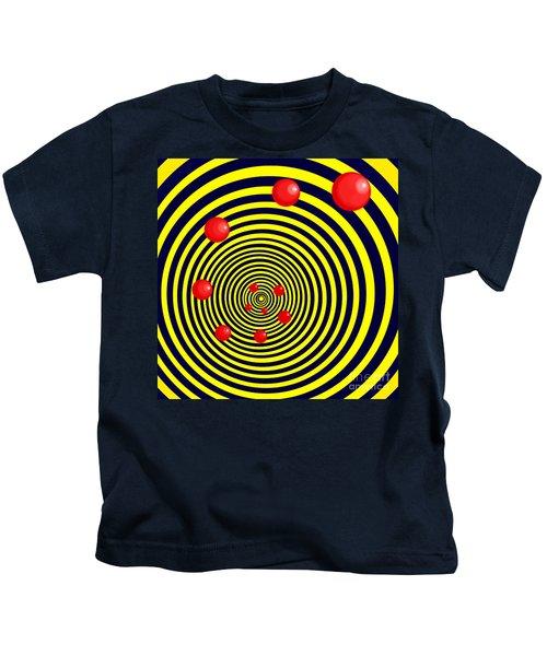 Summer Red Balls With Yellow Spiral Kids T-Shirt