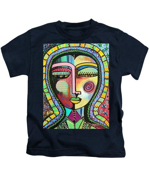 -talavera Virgin Of Guadalupe Protection Kids T-Shirt