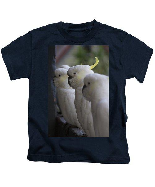 The Line-up Kids T-Shirt by Douglas Barnard