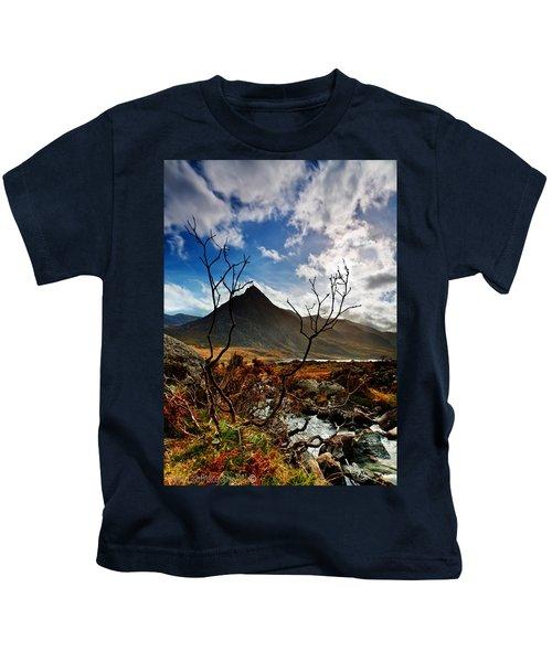 Tryfan And Tree Kids T-Shirt