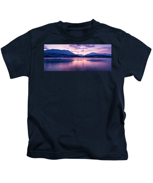 Twilight Above A Fjord In Norway With Beautifully Colors Kids T-Shirt