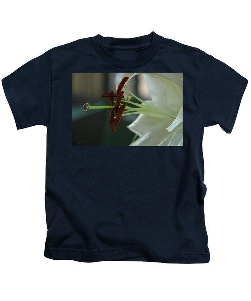 White Tiger Lily II Kids T-Shirt