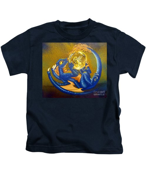 Dragon And Captured Fairy Kids T-Shirt