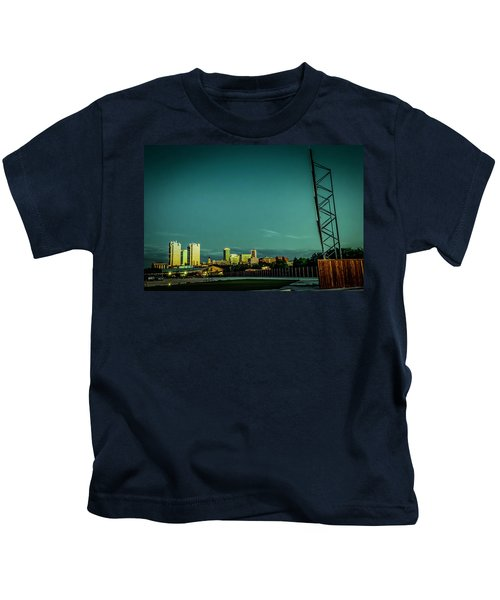 Fortworth Texas Cityscape Kids T-Shirt