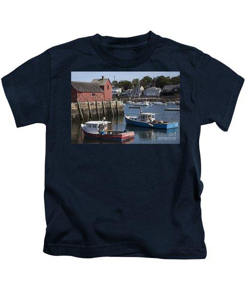 Harbor Boats Kids T-Shirt