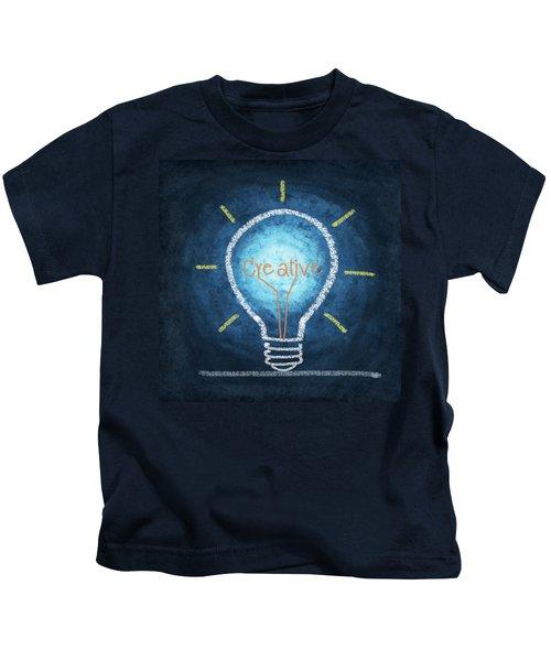Light Bulb Design Kids T-Shirt