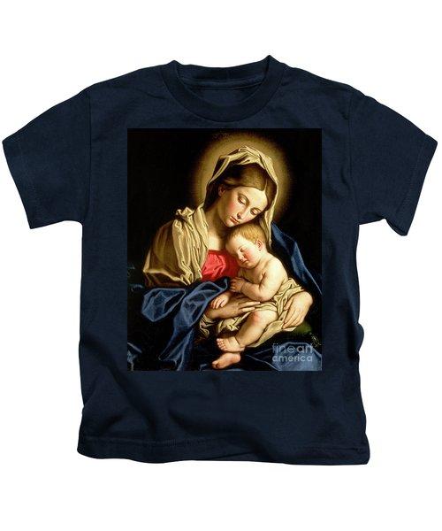Madonna And Child Kids T-Shirt