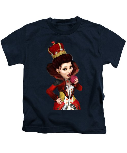 Queen Of Hearts Portrait Kids T-Shirt