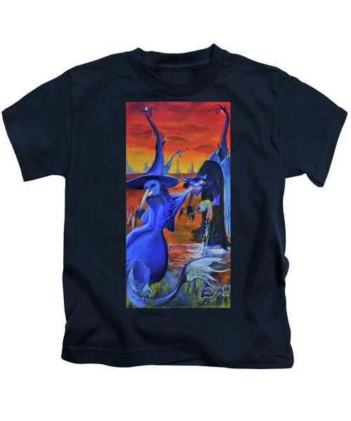 The Cat And The Witch Kids T-Shirt