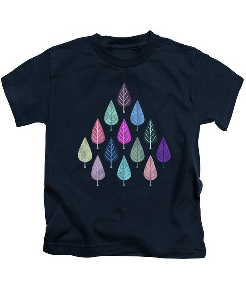 Watercolor Forest Pattern IIi Kids T-Shirt