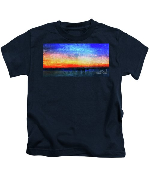 15a Abstract Seascape Sunrise Painting Digital Kids T-Shirt