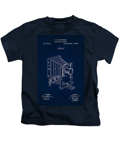 1888 Camera Us Patent Invention Drawing - Dark Blue Kids T-Shirt
