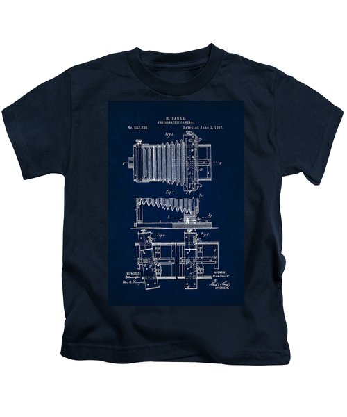 1897 Camera Us Patent Invention Drawing - Dark Blue Kids T-Shirt