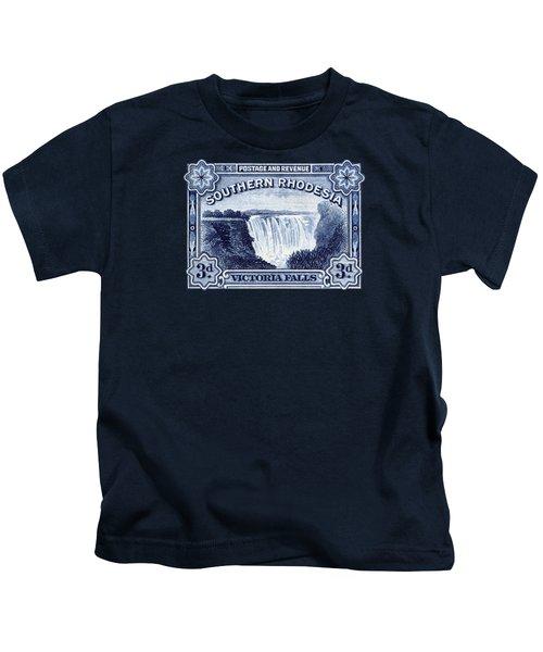 1932 Southern Rhodesia Victoria Falls Stamp Kids T-Shirt