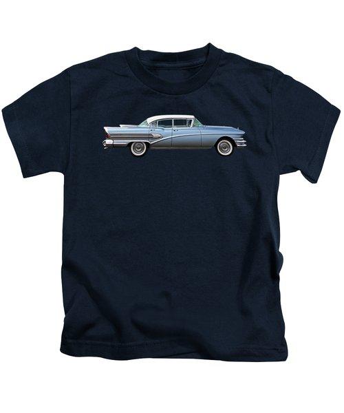 1958 Buick Roadmaster 75 Kids T-Shirt