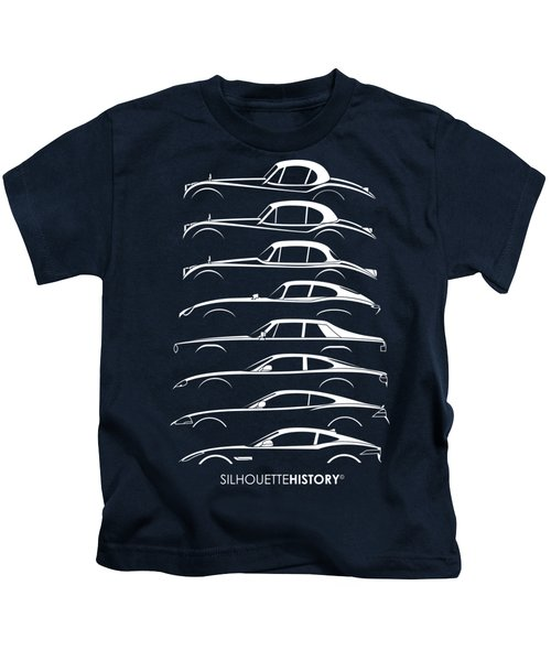 Big Cat Coupe Silhouettehistory Kids T-Shirt