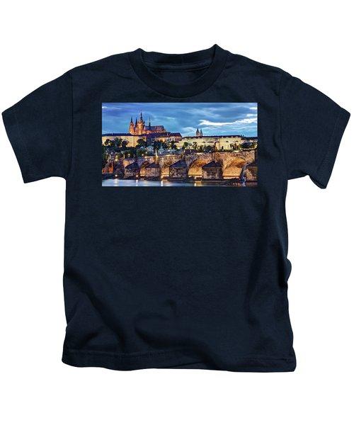Charles Bridge And Prague Castle / Prague Kids T-Shirt