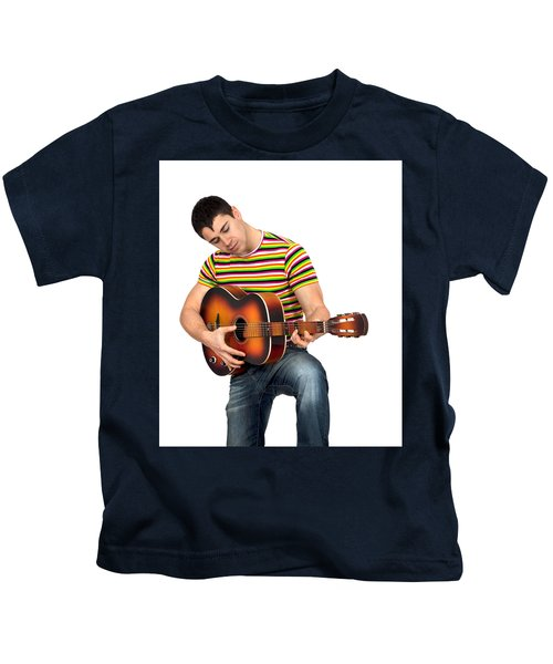 Man Playing The Guitar Kids T-Shirt