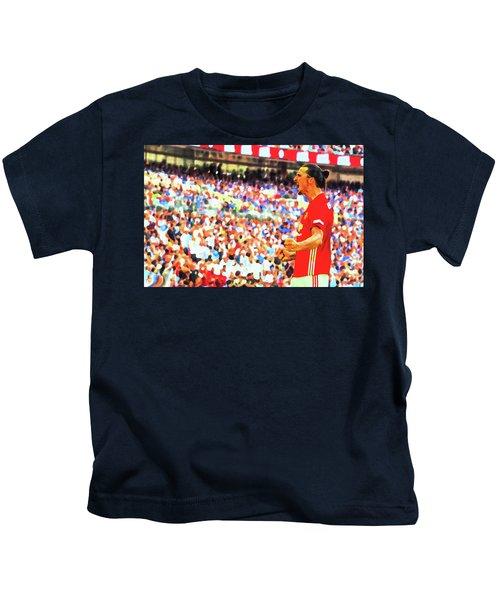 Manchester United's Zlatan Ibrahimovic Celebrates Kids T-Shirt