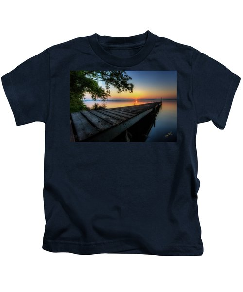 Sunrise Over Cayuga Lake Kids T-Shirt