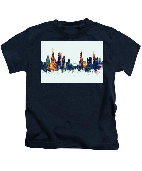 Chicago Illinois Skyline Kids T-Shirt
