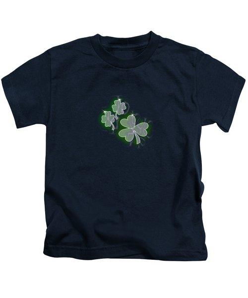 3 Shamrocks Kids T-Shirt
