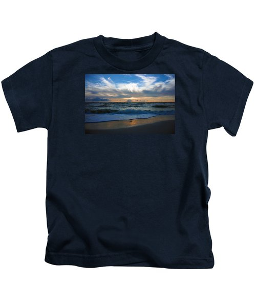 Sunset At Delnor-wiggins Pass State Park Kids T-Shirt