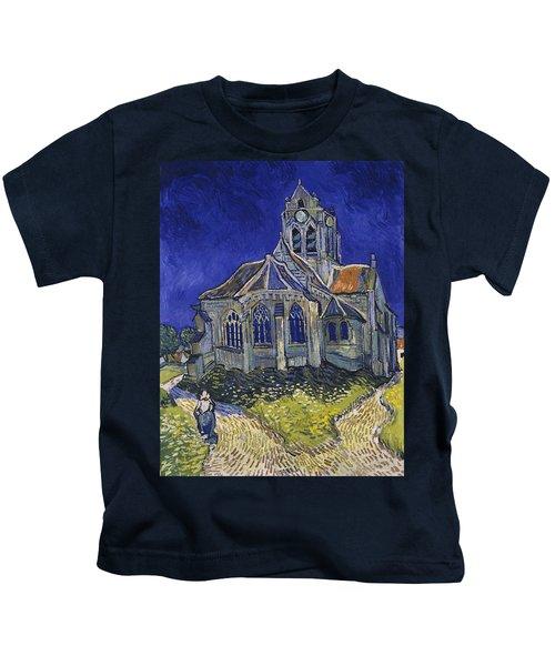 The Church At Auvers Kids T-Shirt