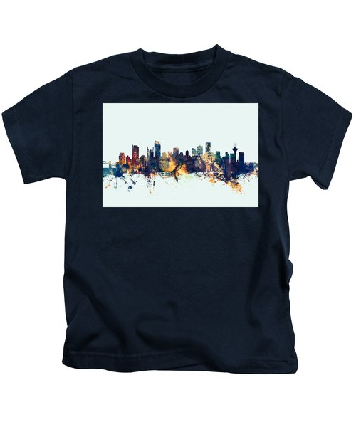Vancouver Canada Skyline Kids T-Shirt