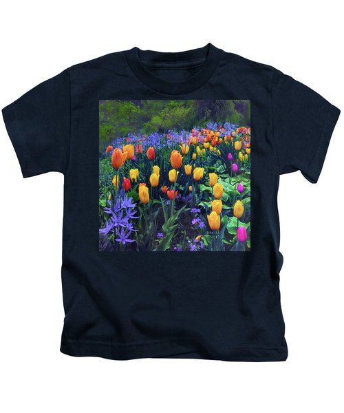 Procession Of Tulips Kids T-Shirt