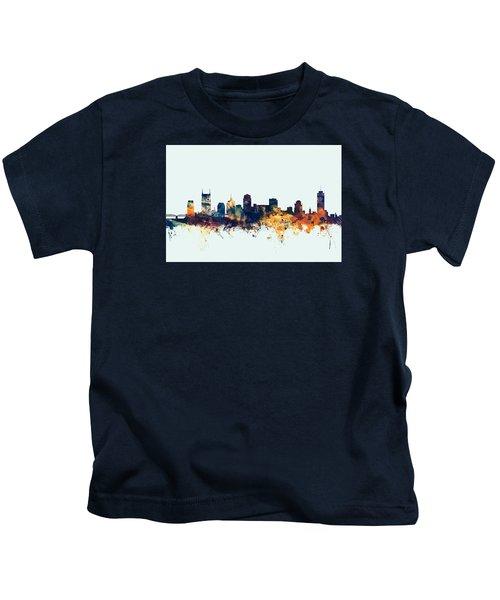 Nashville Tennessee Skyline Kids T-Shirt